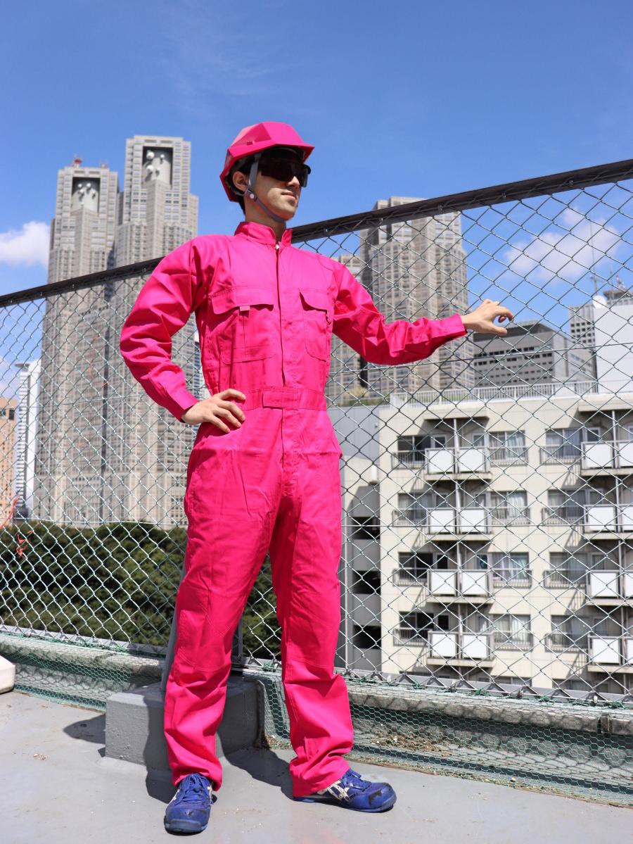 カラーつなぎ(ピンク)