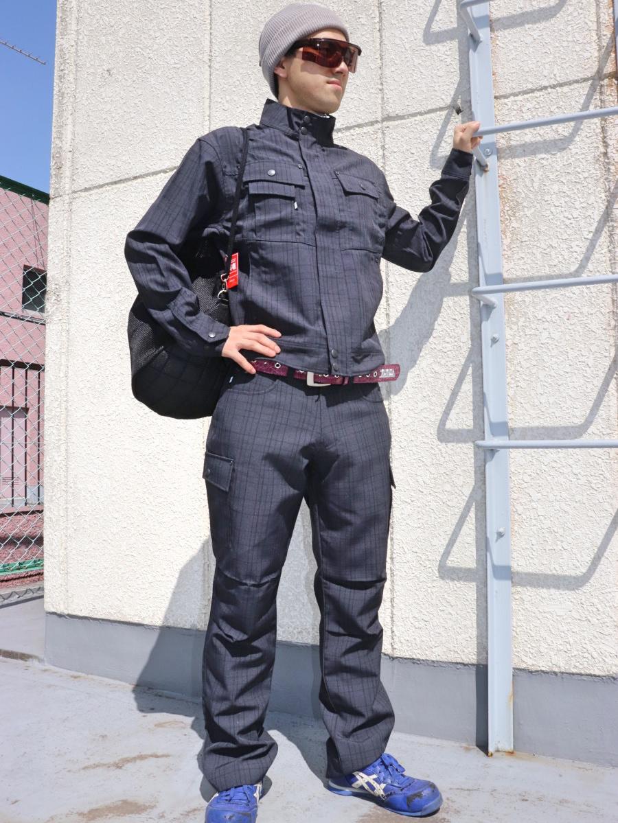 クロスストライプ作業服